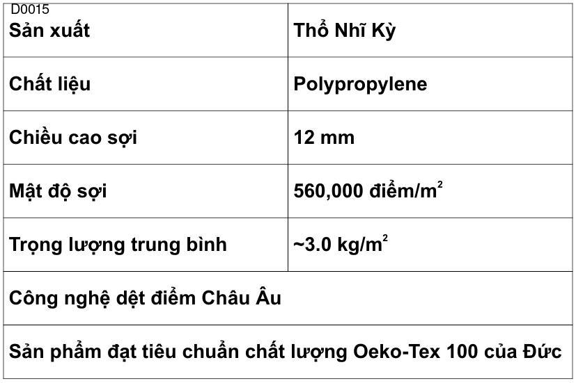 Thảm Lông Ngắn D0015